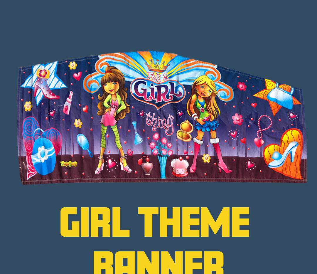 Girl Theme Banner Custom