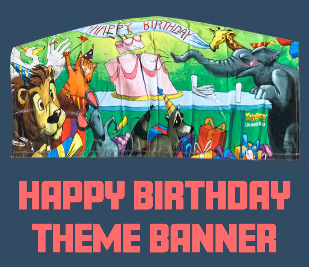 Custom Theme Party House Happy Birthday Banner