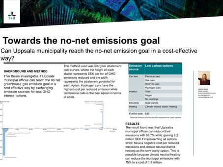 Towards the no-net emission goal - can Uppsala municipality reach the no-net emission goal in a cost