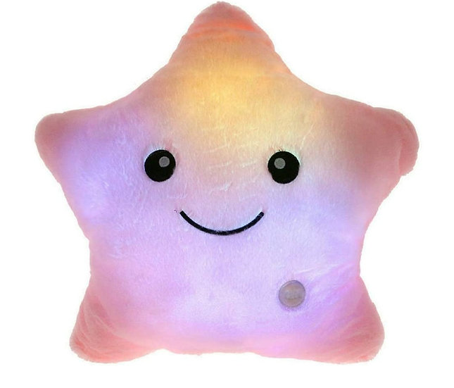 Switch-adapted Twinkling Star Pillow-Pink
