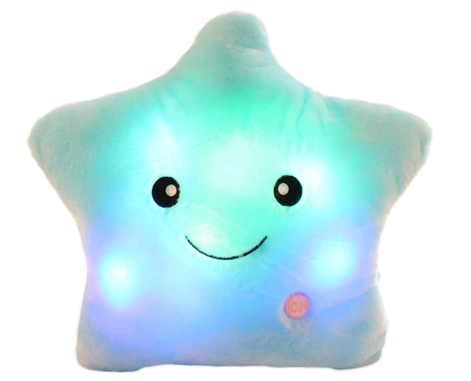Switch-adapted Twinkling Star Pillow-Blue