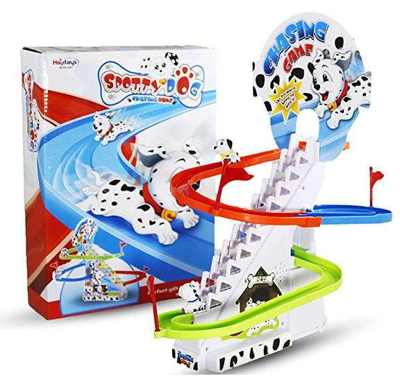 Switch-adapted Spotty Dog Chasing Playset