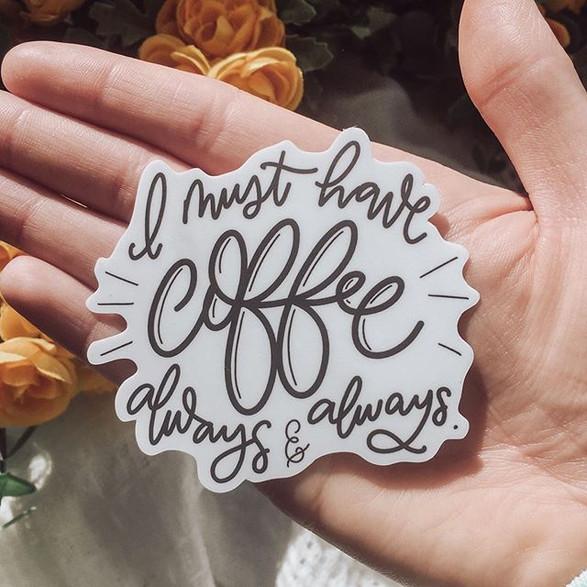 Coffee Sticker Decal