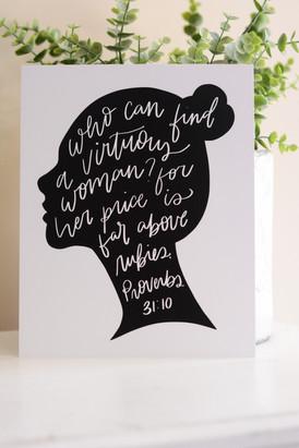 Proverbs Silhouette Print