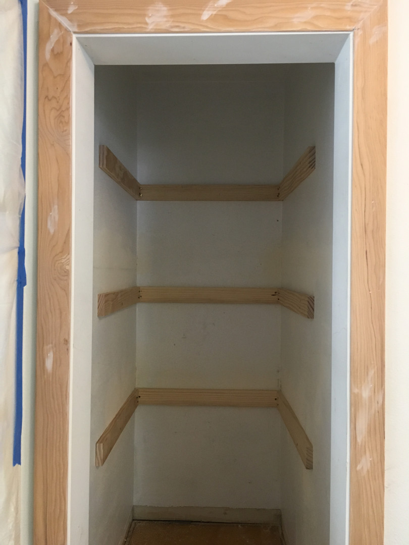 New Pantry Shelf Supports