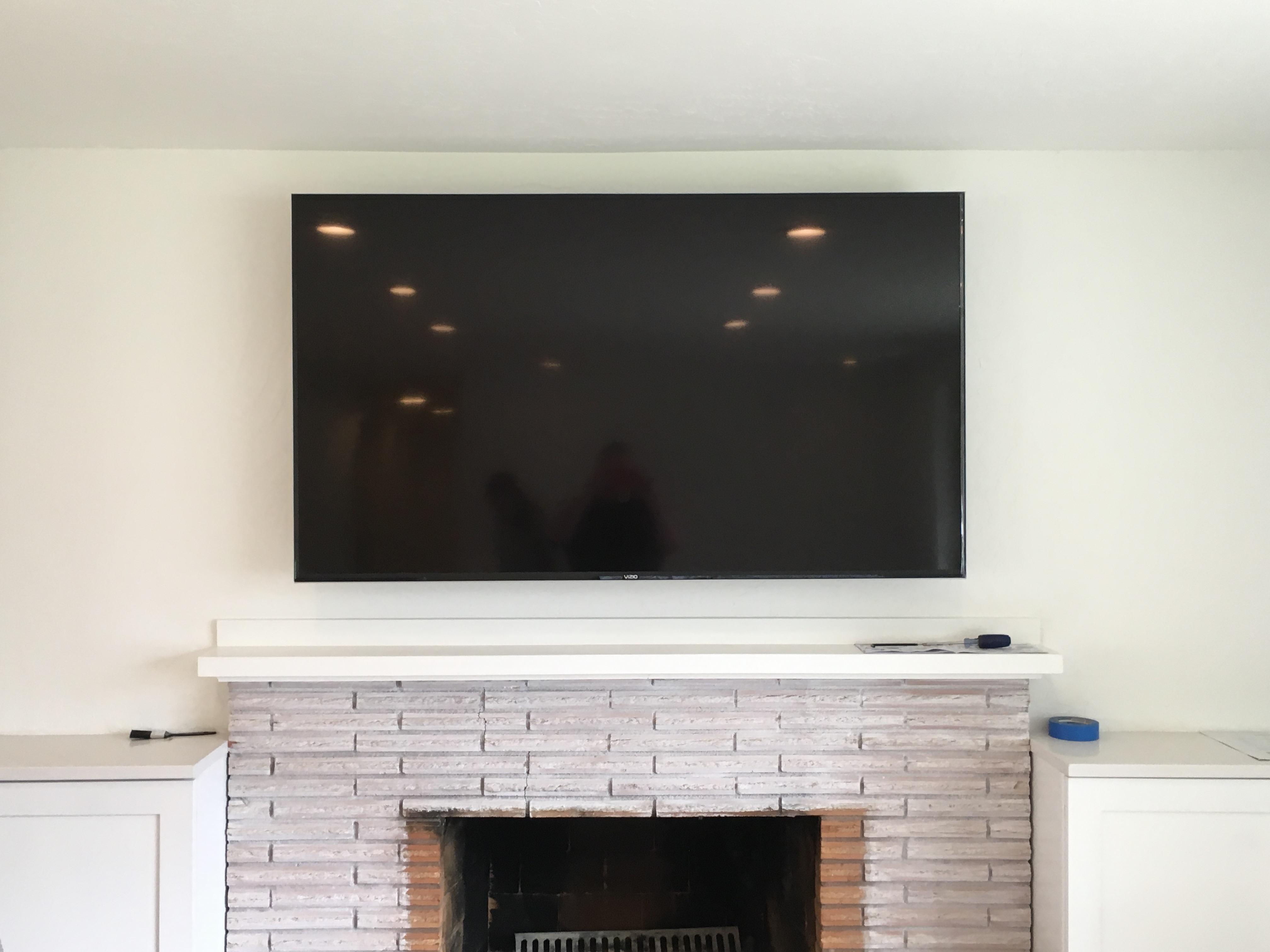 """70"""" HDTV Installed"""