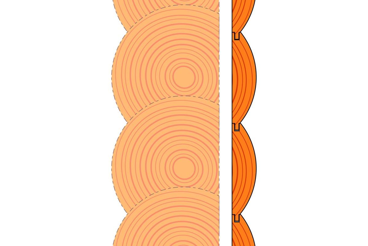ไม้ฝาสน แบบท่อนซุง ไม้ตกแต่งผนัง ผนัง ไม้สน ไม้จริง ไม้ฝา