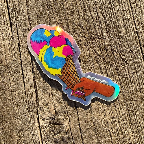 Superman Ice Cream Sticker