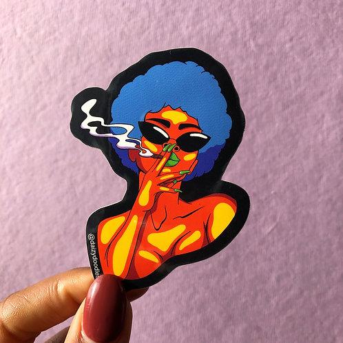 Smokey Vinyl Sticker