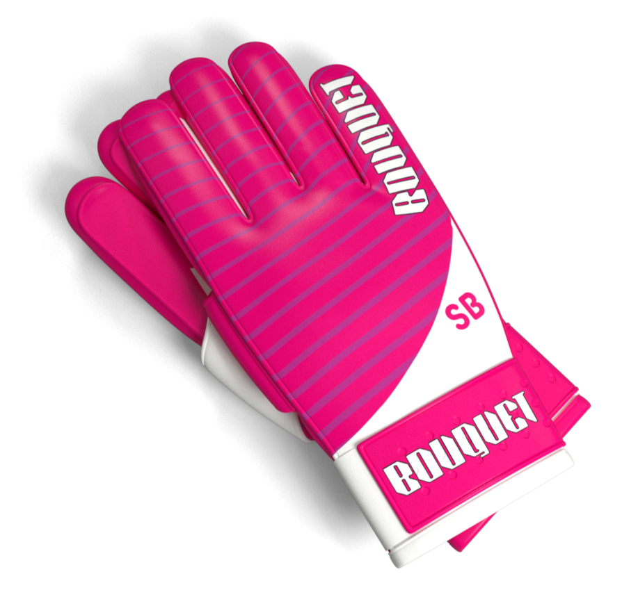 Steve-Branded 'Catch The Bouquet' Goalie Gloves | Bruce Up Your Wedding