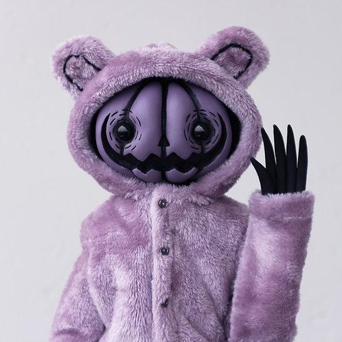 "16"" purple bear onesie pumpkin doll"