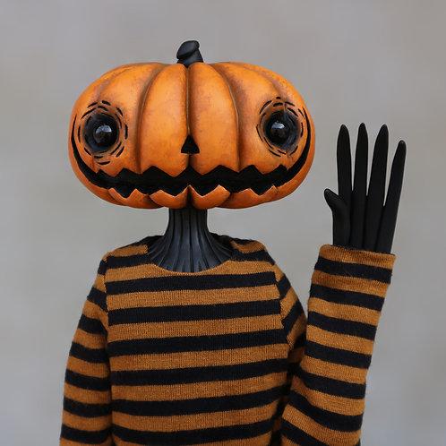 """16"""" (M) wide orange pumpkin doll"""