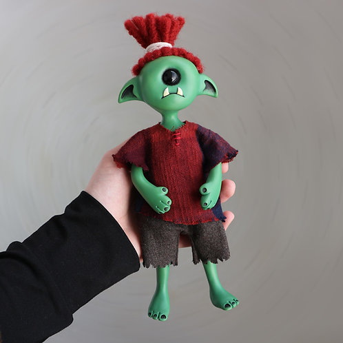 "9"" Cyclops goblin doll"
