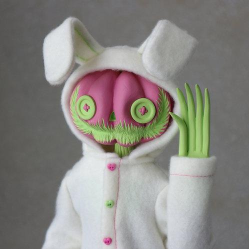 "16"" bunny onesie pumpkin doll"