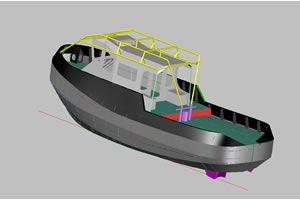mini tug boat 14m