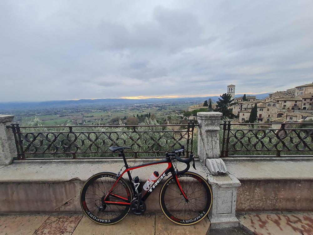 Giro in bici ad Assisi