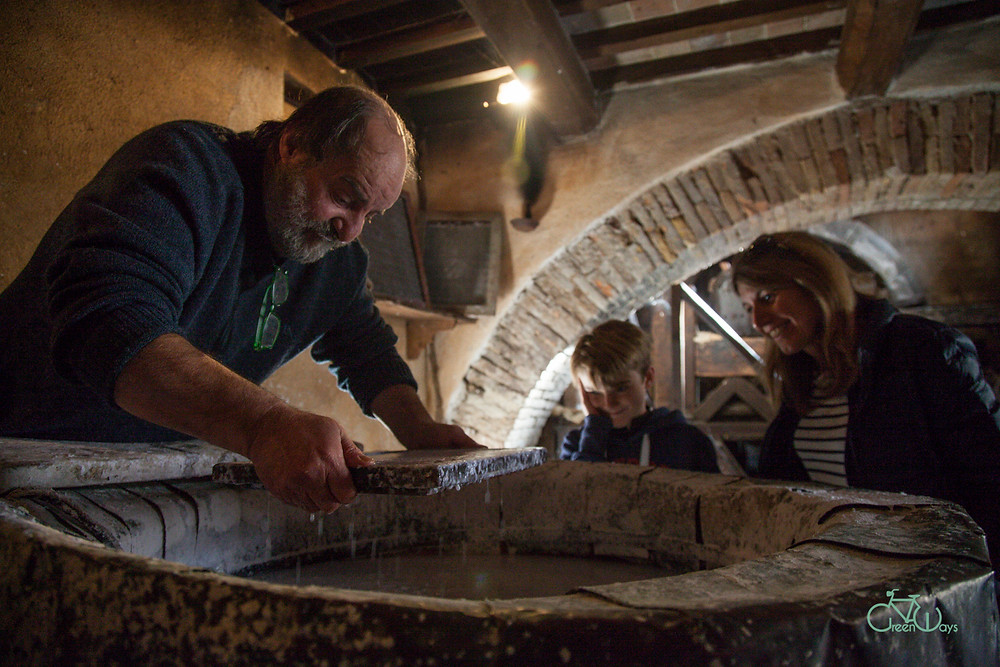 Discover The medieval paper mill of Bevagna on our guided bike tours