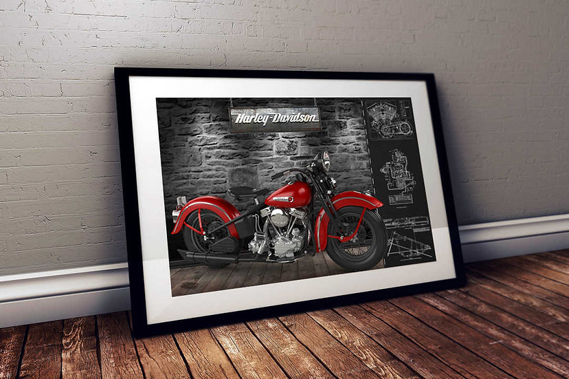 """1947 Harley Davidson Panhead - """"Lady In Red"""""""