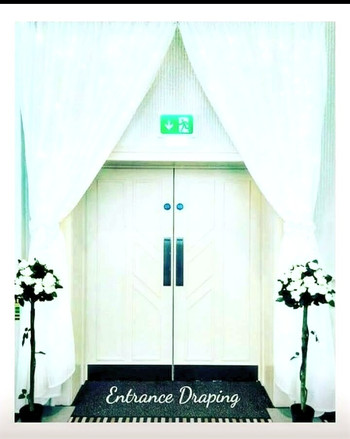 LED Lighted Entrance Draping