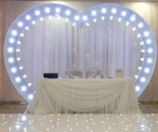 8 feet high LED Love Arch