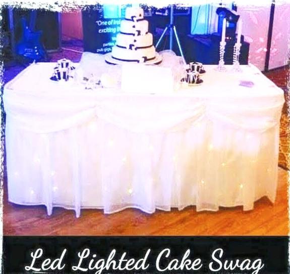 LED Cake Table Skirting