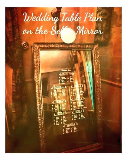 Table Plan on Selfie Mirror