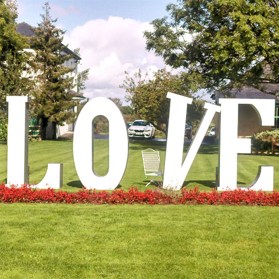 7 foot high Love Sign