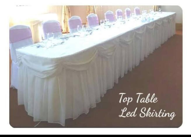 LED Top Table Skirting