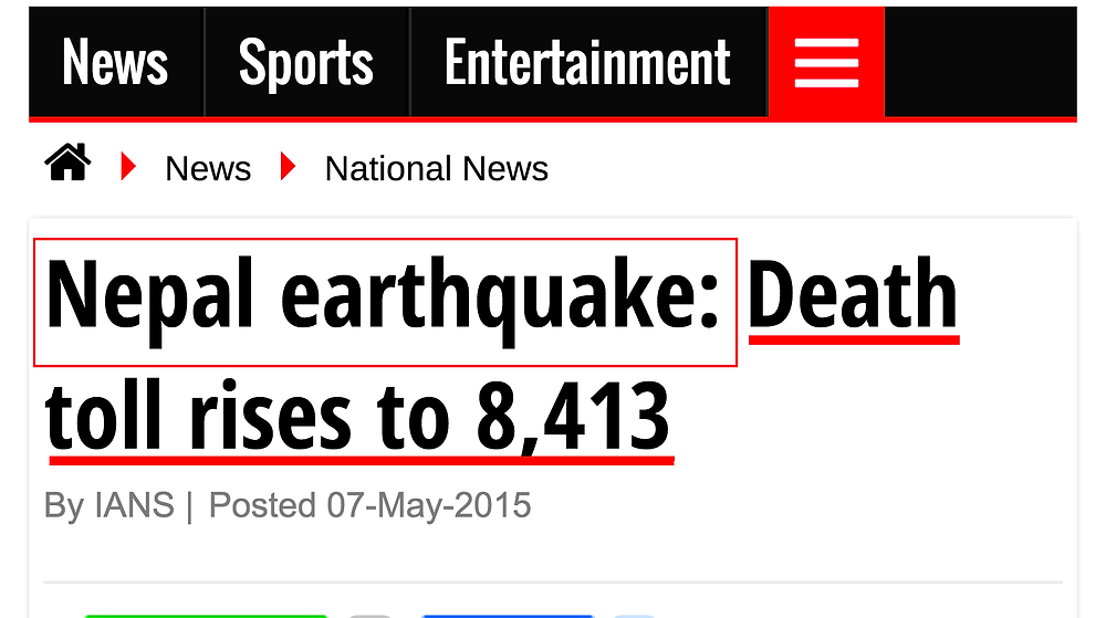 Nepal earthquake  Death toll rises to 8 413   News.png