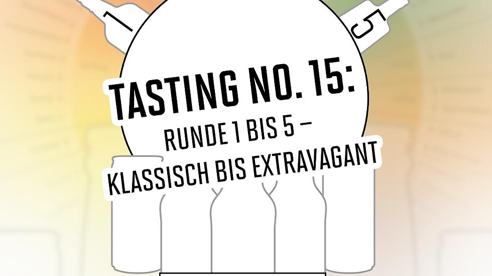 """Online Gin Tasting No. 15 """"1-5 – Klassisch bis Extravagant""""  - 19.02.2021 - 20h"""