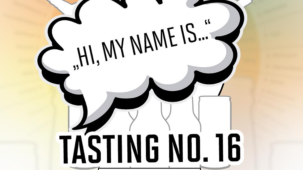 """Online Gin Tasting No. 16 """"Hi, My Name is...""""  - 19.03.21 - 20h"""