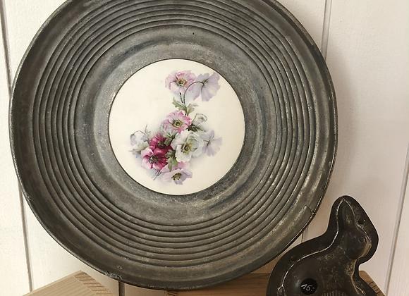 Zinn-Porzelan-Schale-Blumen