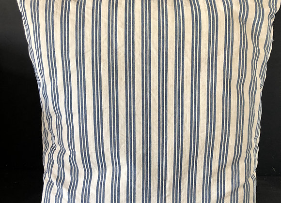 Blau Weiss gestreiftes Kissen