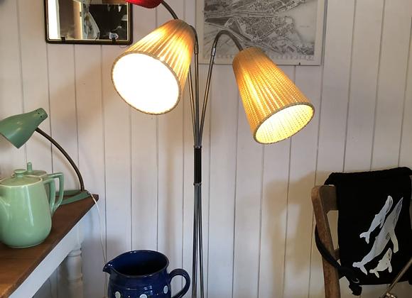 Dreiarmige 60ties Lampe