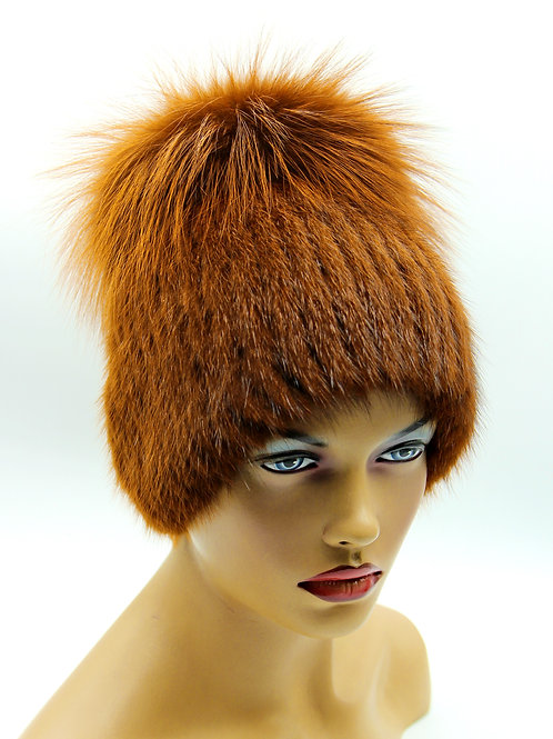 шапка натуральный мех