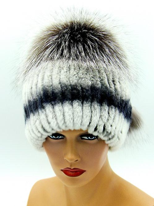 меховые вязанные шапки