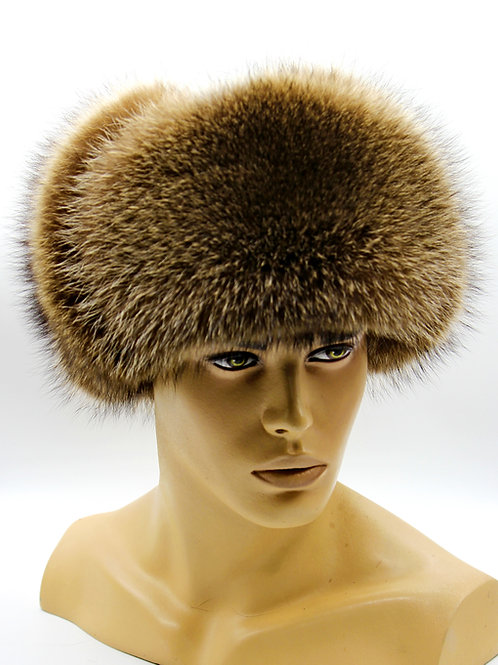 шапка ушанка меховая из енота
