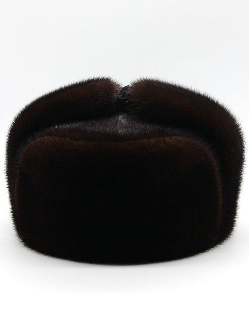 мужская шапка из меха норки коричневая