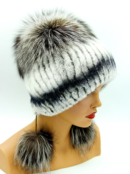 меховая шапка из норки на вязанной основе купить украина