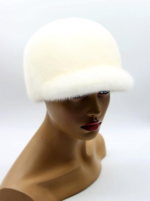 женская норковая кепка