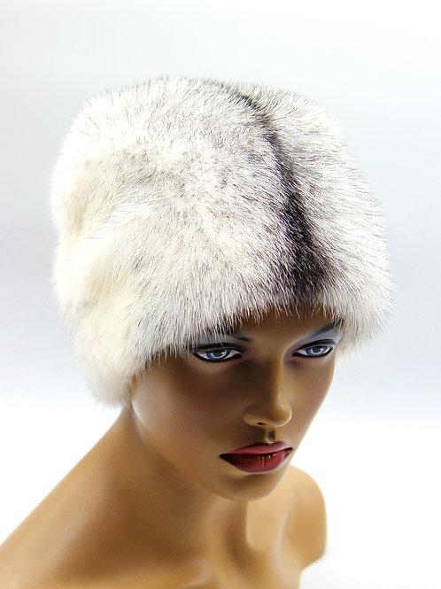 Женская шапка норковая Козачок с довязом меховая крестовка