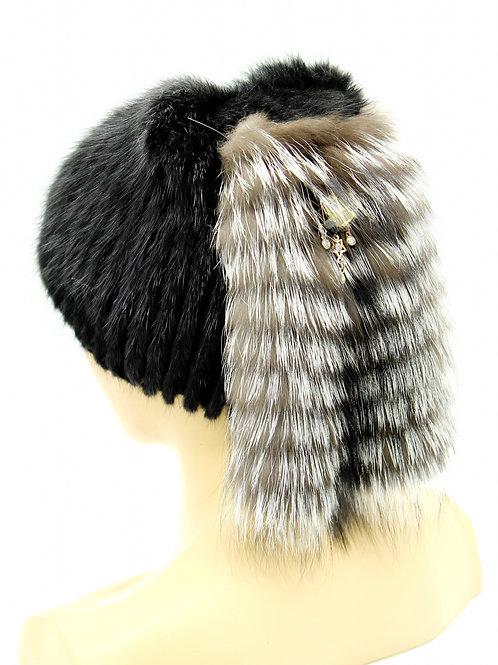 меховые вязаные шапки
