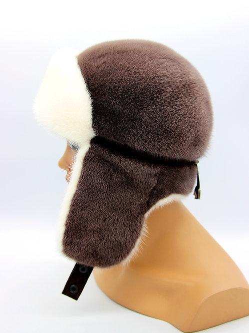 норковая женская шапка ушанка