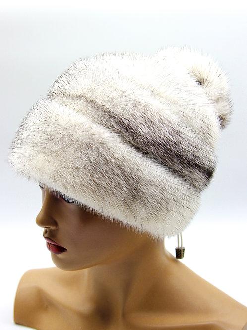 Женская норковая шапка меховая Роза крестовка