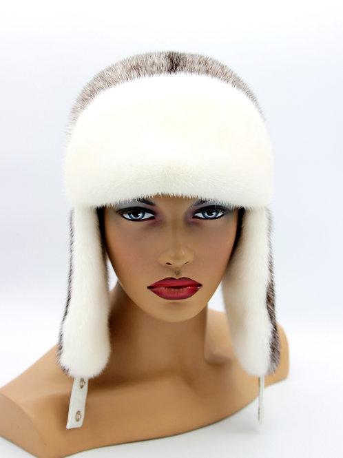 шапка меховая женская с ушками