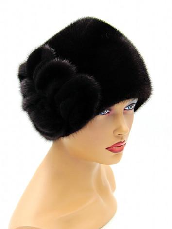 Женская норковая шапка