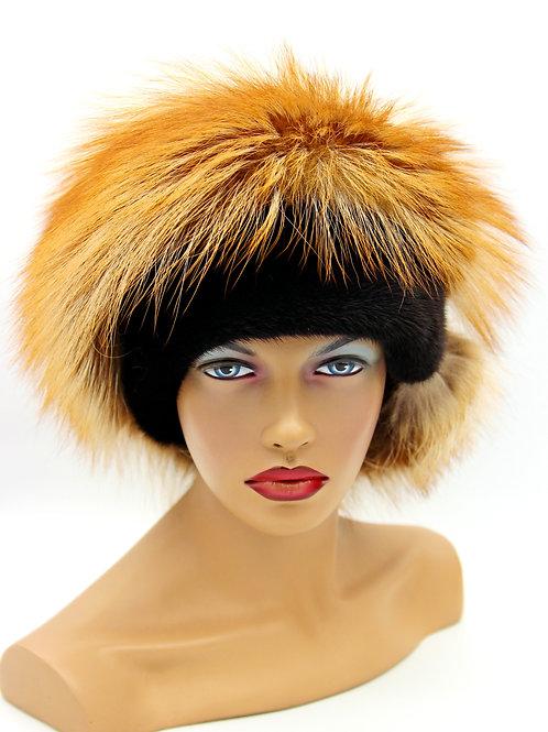 зимние норковые шапки женские