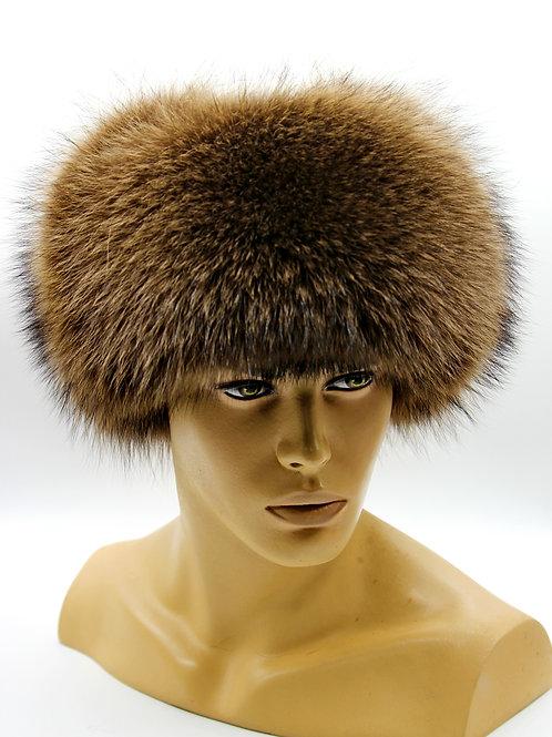 меховая шапка ушанка из меха енота