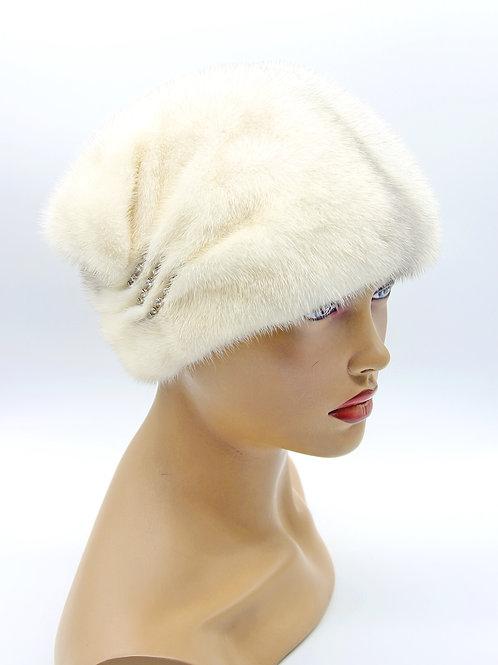 шапка с мехом женская