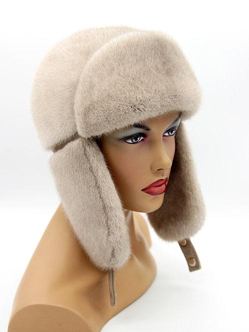 женская зимняя шапка ушанка